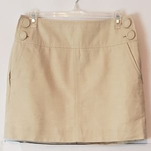 Banana Republic Mini Skirt Beige Linen Blend 2